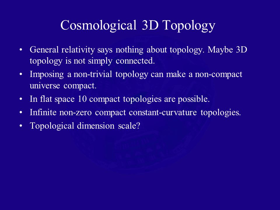 General relativity says nothing about topology. Maybe 3D topology is not simply connected.
