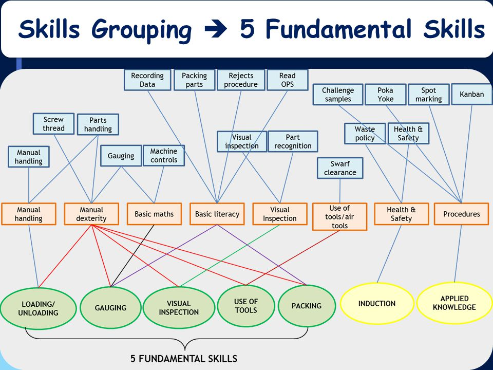 UVAC Annual Conference 2013 Skills Grouping  5 Fundamental Skills