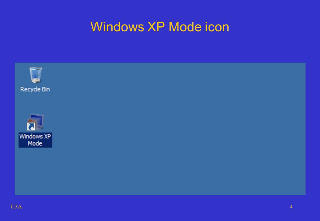 U3A4 Windows XP Mode icon