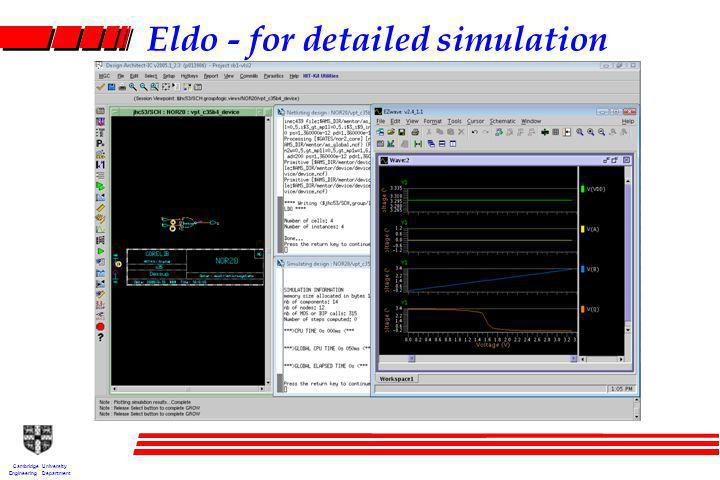 Cambridge University Engineering Department Eldo - for detailed simulation