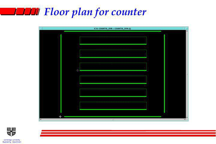 Cambridge University Engineering Department Floor plan for counter
