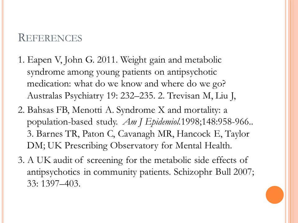 R EFERENCES 1. Eapen V, John G. 2011.