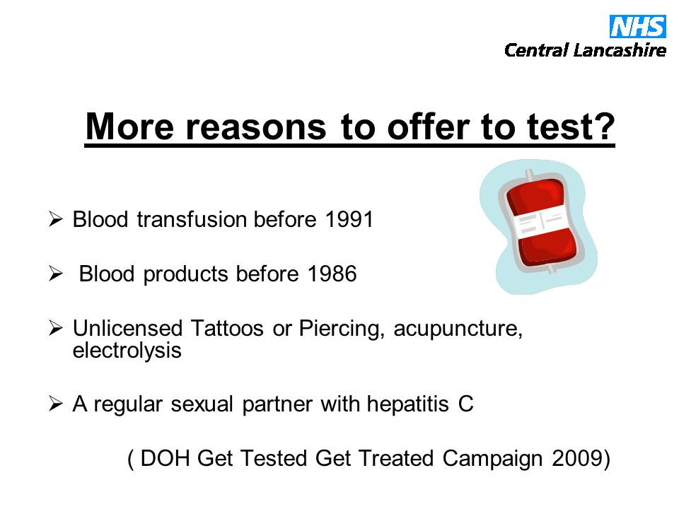 More reasons to offer to test.