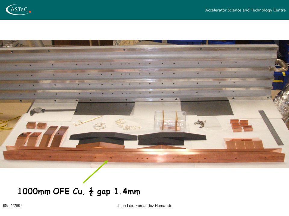 08/01/2007Juan Luis Fernandez-Hernando 1000mm OFE Cu, ½ gap 1.4mm