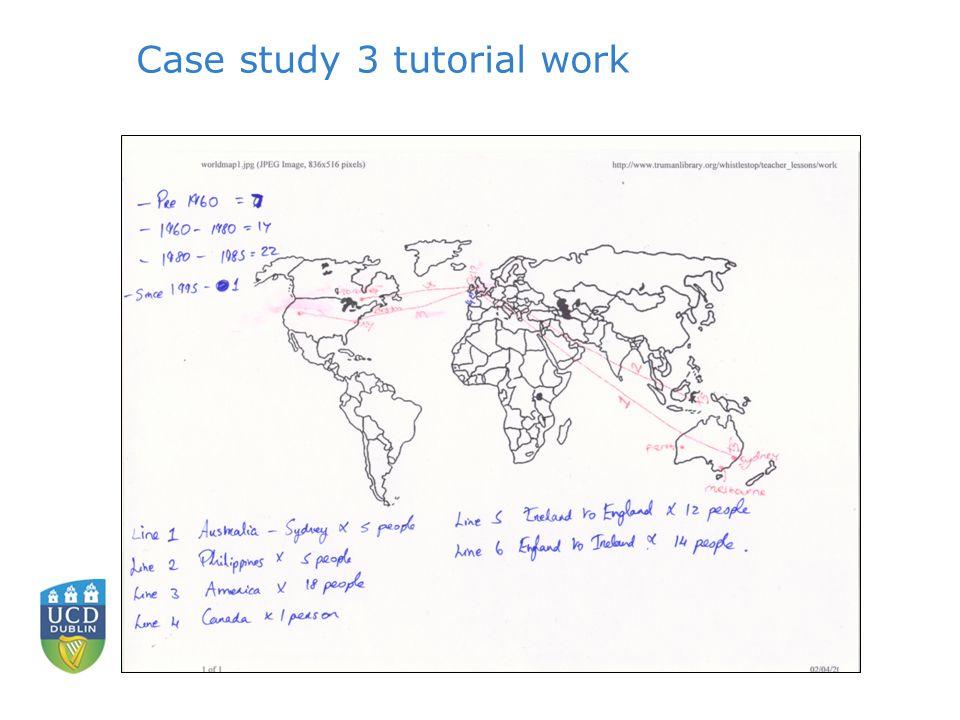 Case study 3 tutorial work