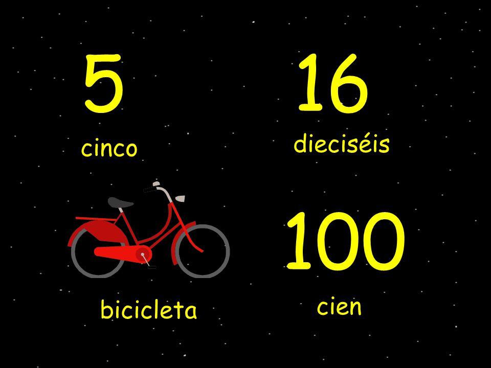cinco dieciséis bicicleta cien 16 100 5
