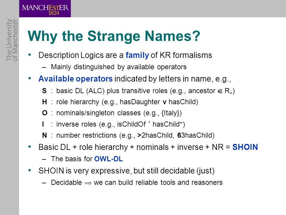Why the Strange Names.