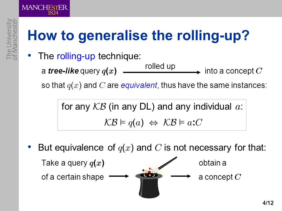 4/12 How to generalise the rolling-up.