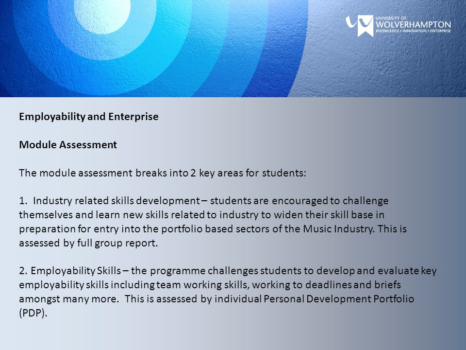 Employability and Enterprise Student projects