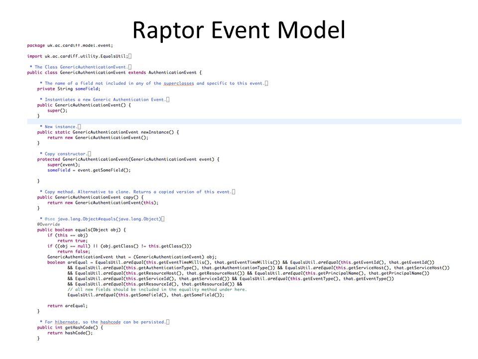 Raptor Event Model