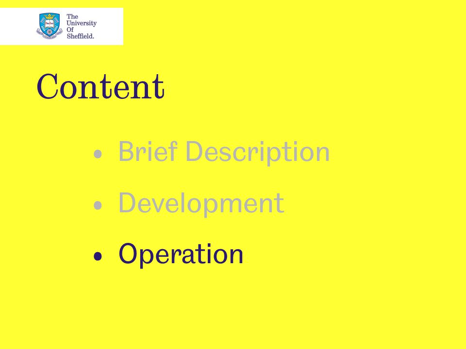 Content Brief Description Development Operation
