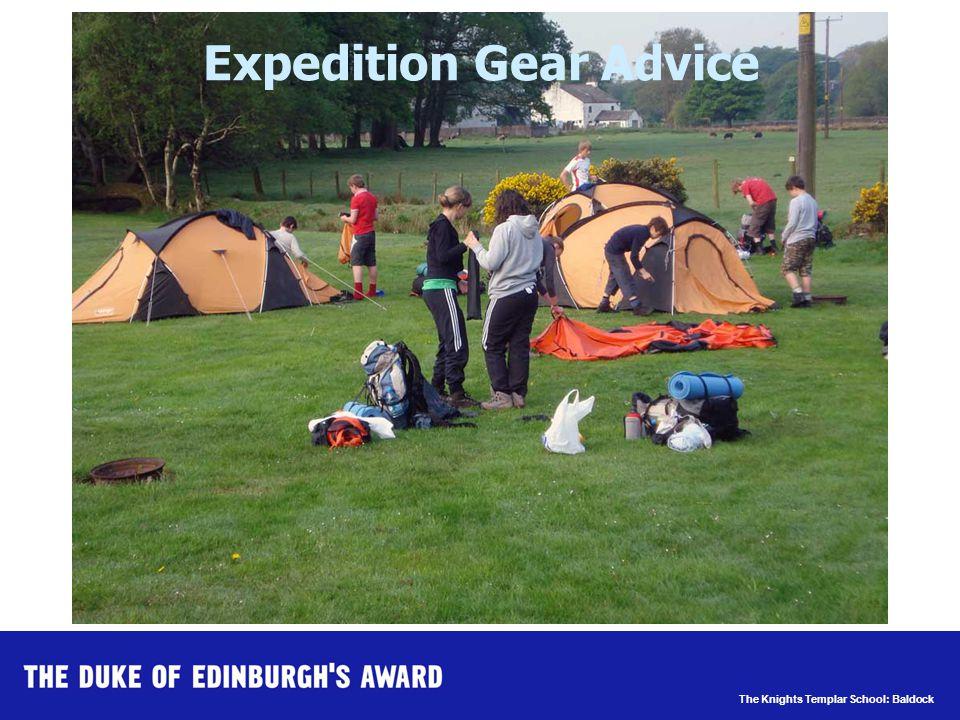 The Knights Templar School: Baldock Expedition Gear Advice