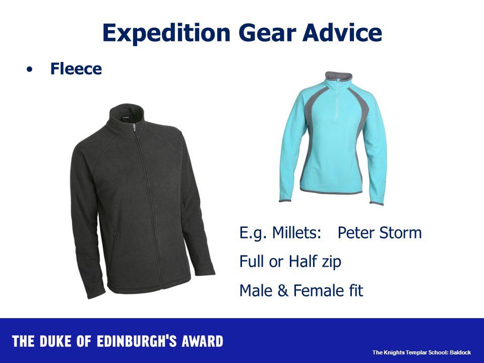 The Knights Templar School: Baldock Expedition Gear Advice Fleece E.g.