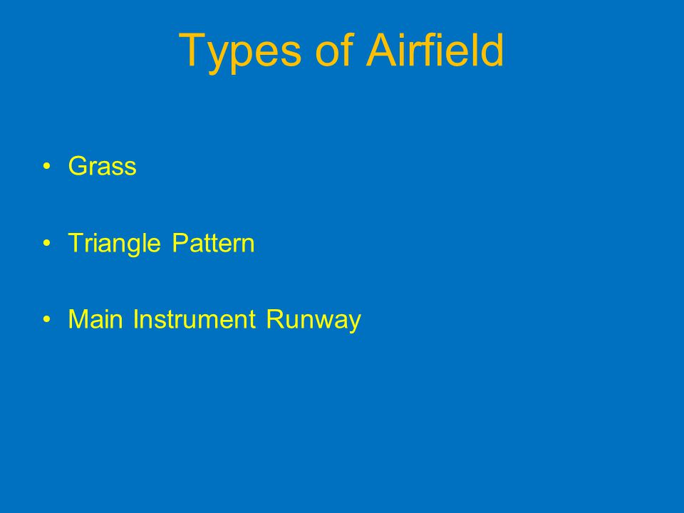 Types of Airfield Grass Triangle Pattern Main Instrument Runway