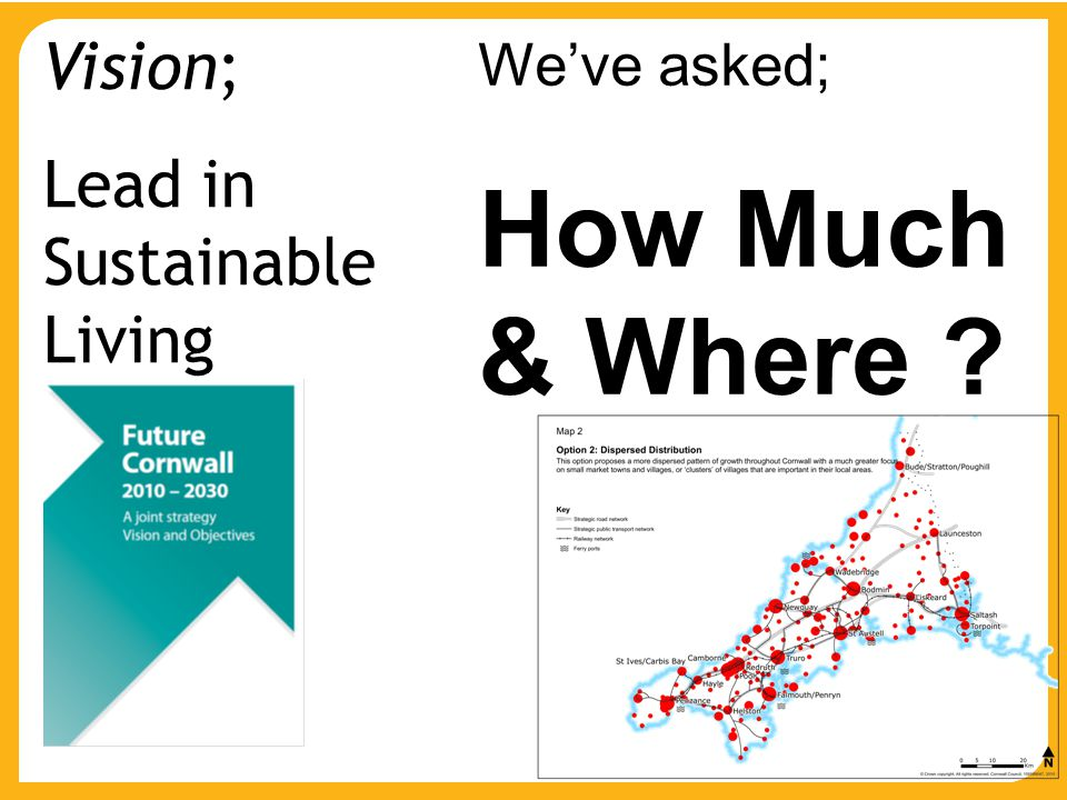 We've asked; How Much & Where ? Vision; Lead in Sustainable Living