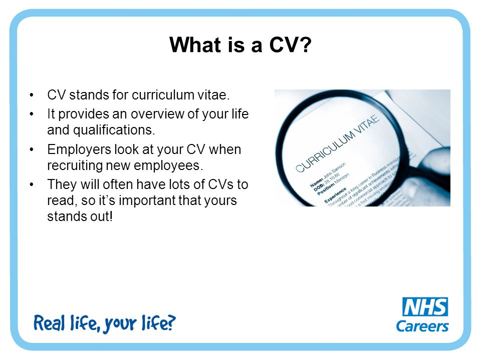 what does cv stand for resume 0437