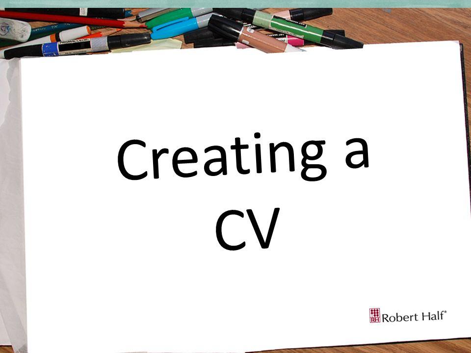 Creating a CV