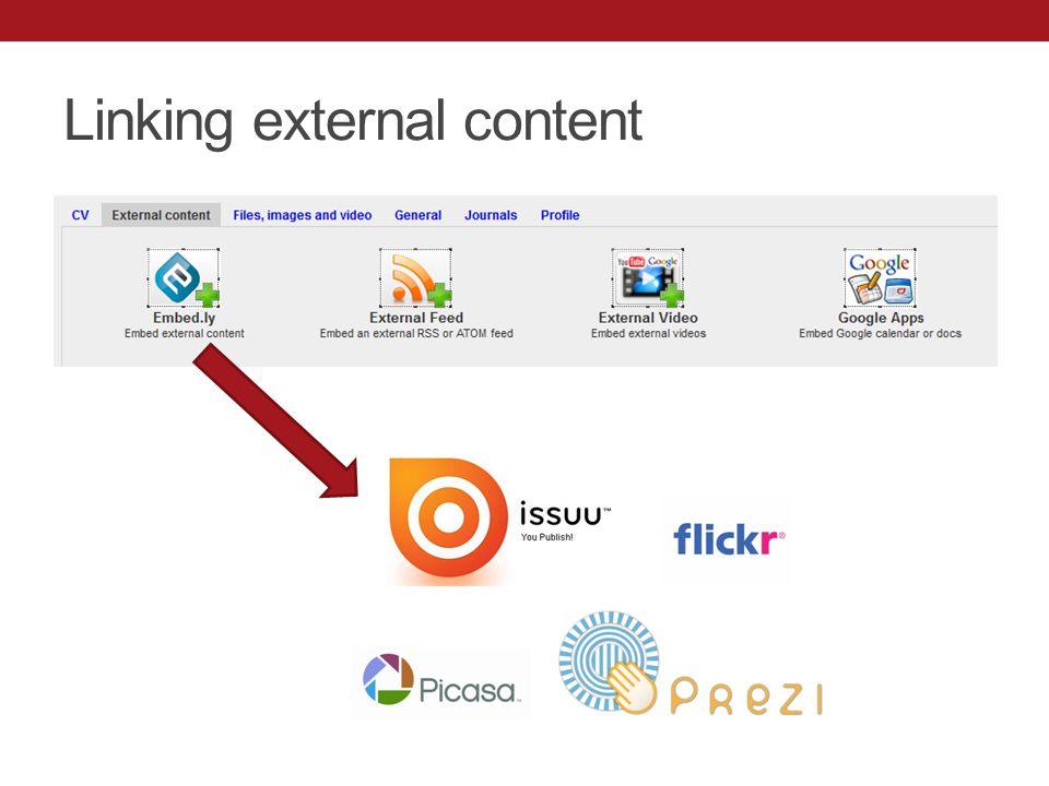 Linking external content