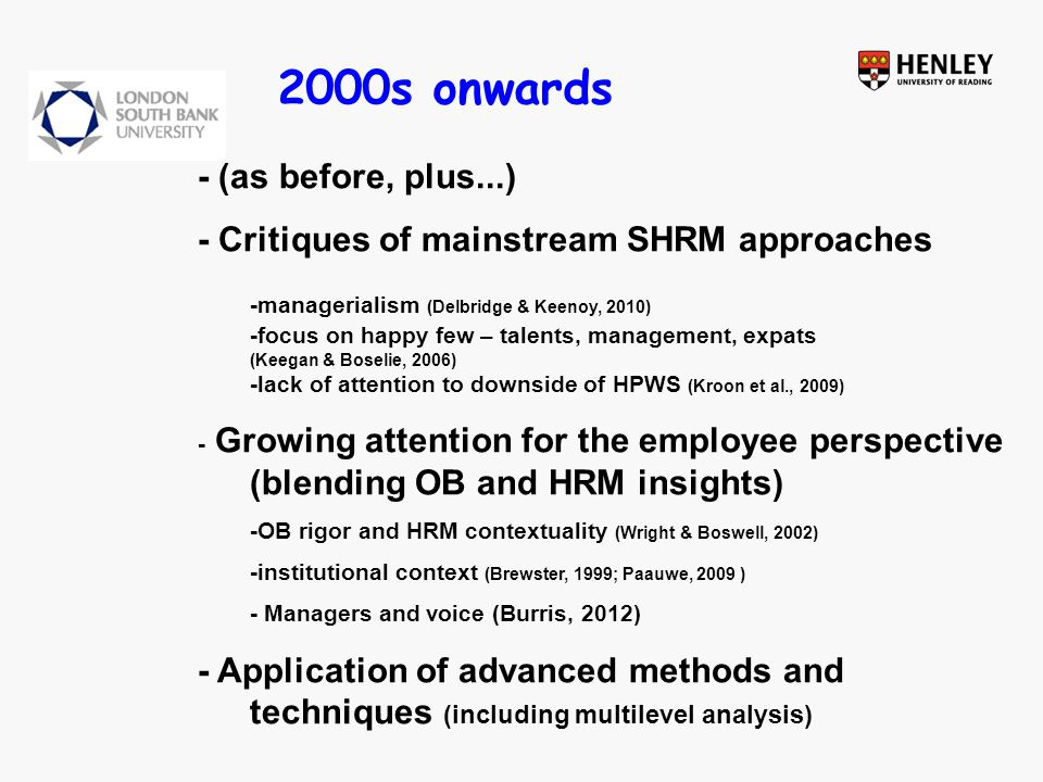Strategic HRM: The Dark side and a route towards the light… Thank you Chris Brewster London South Bank University 22 November 2011