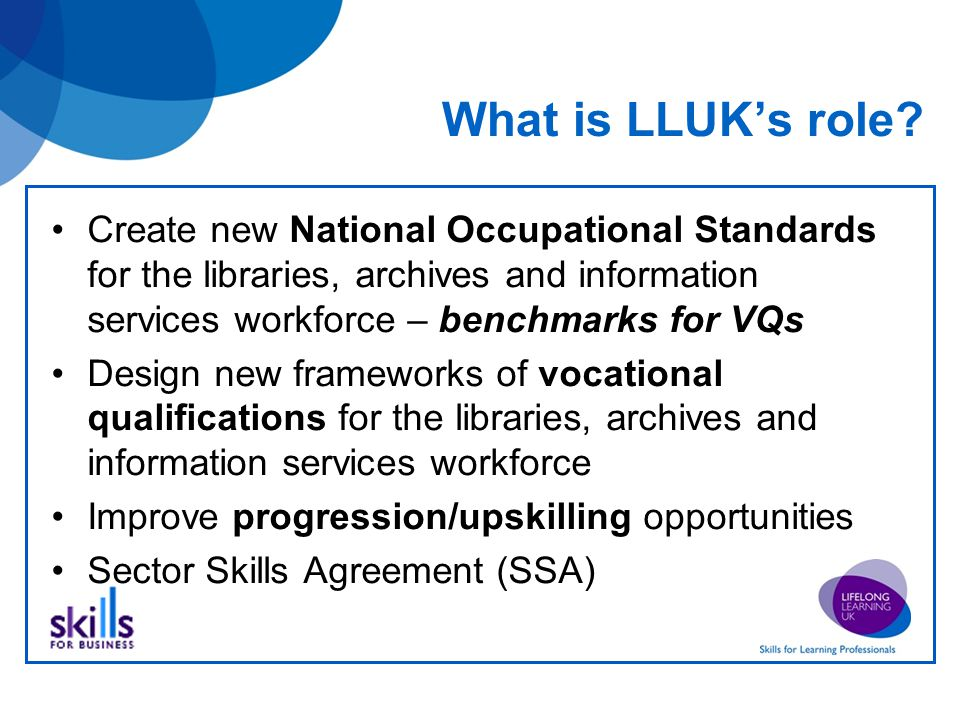 What is LLUK's role.
