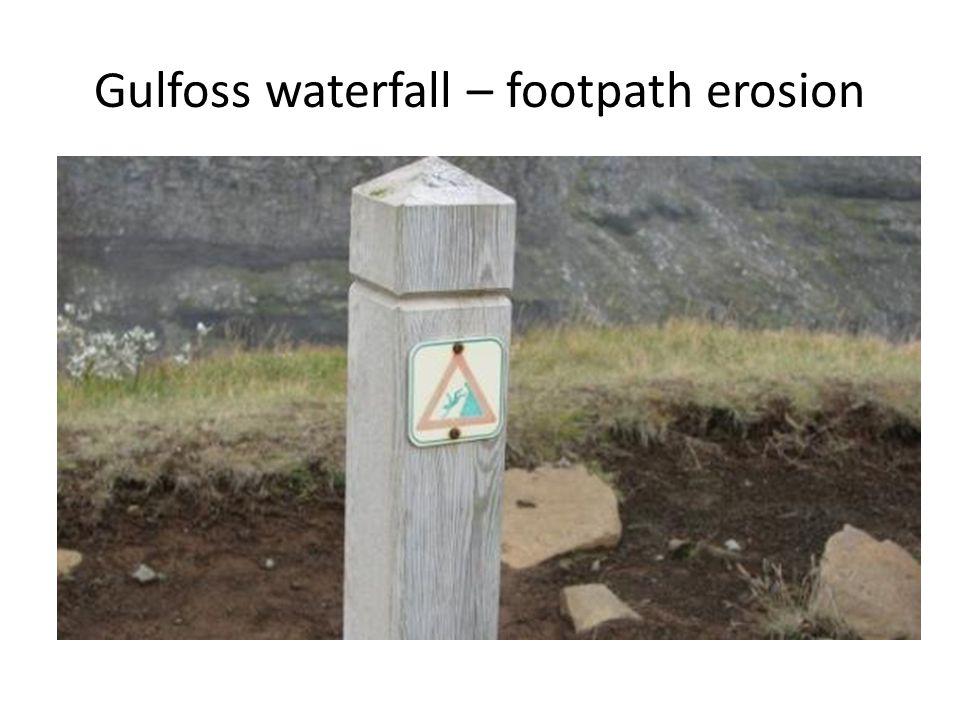 Gulfoss waterfall – footpath erosion