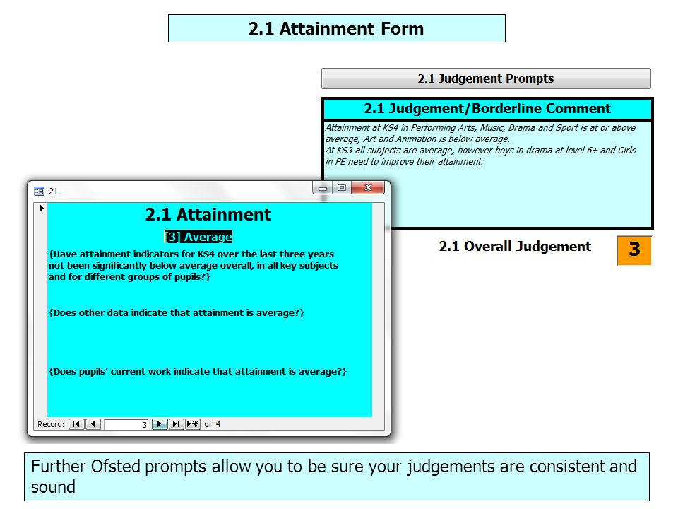 Maintenance section – Lesson Observation Form Use I-SEF to record your lesson observation judgements.