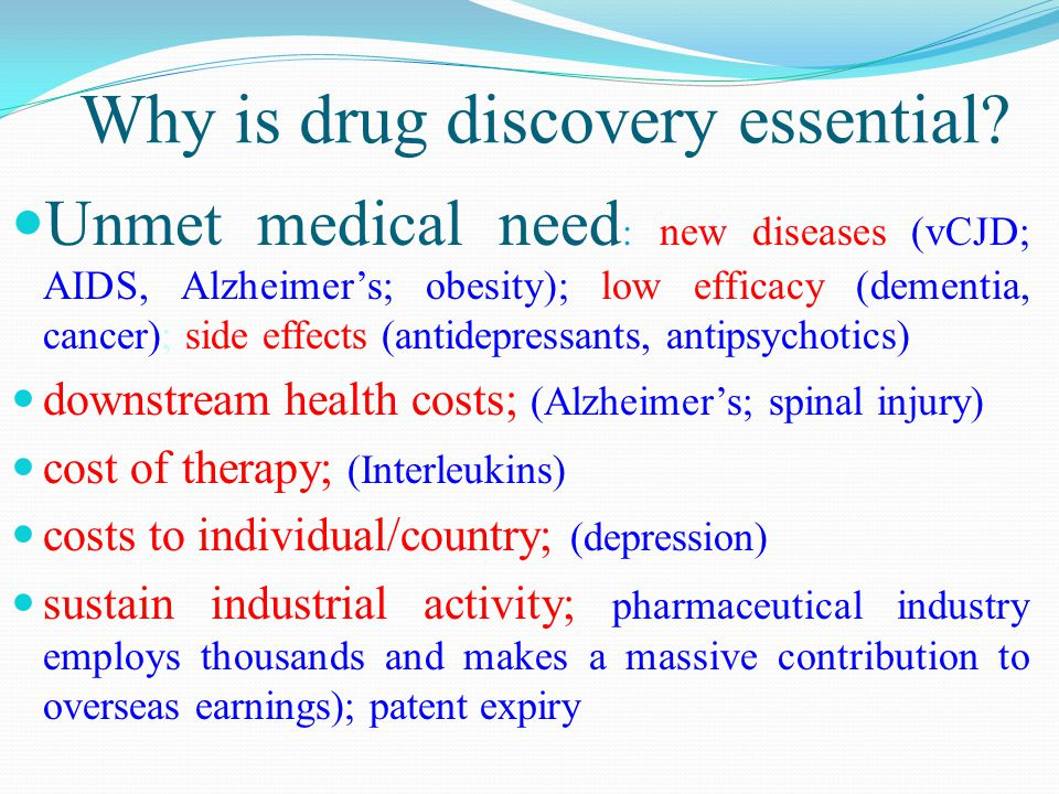 Why is drug discovery essential.