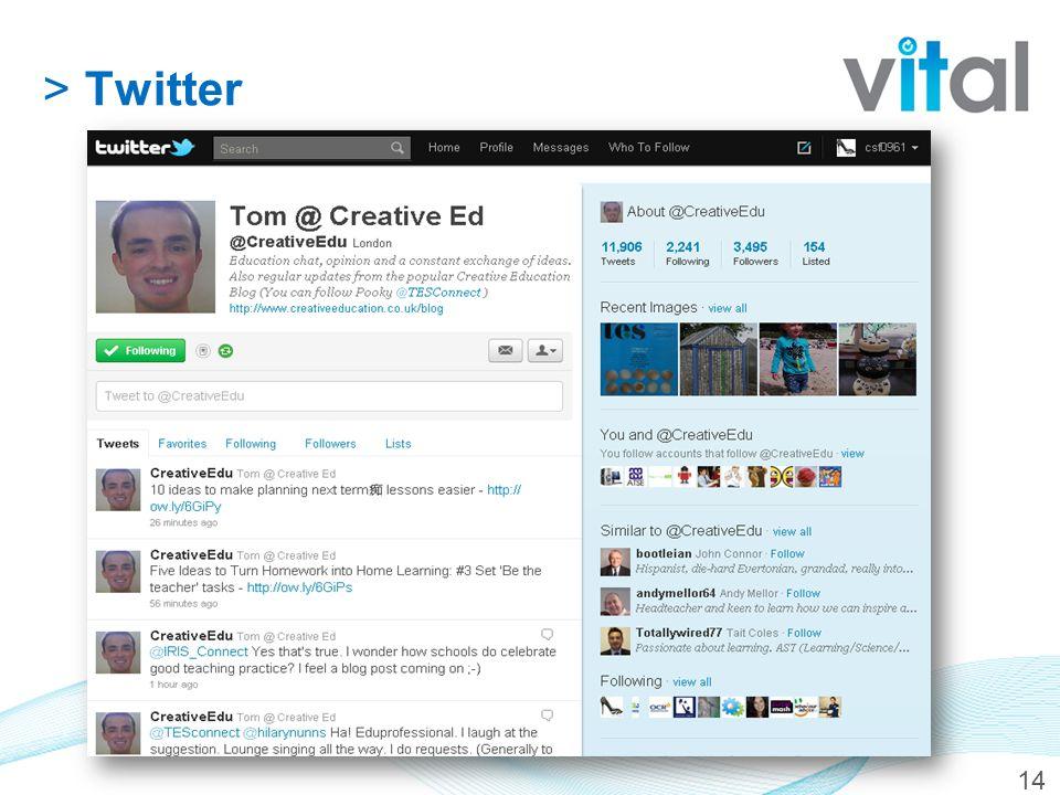 14 >Twitter