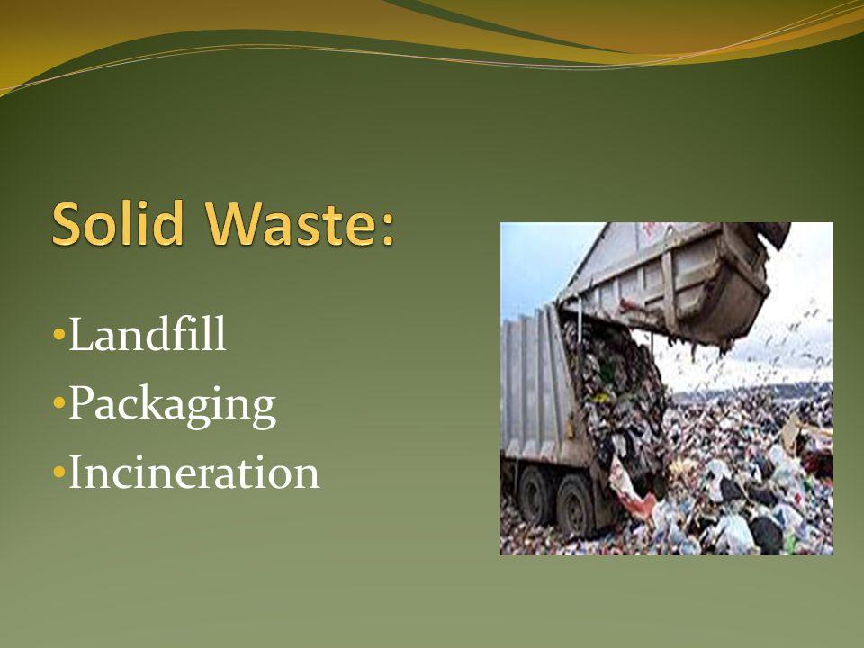 Landfill Packaging Incineration