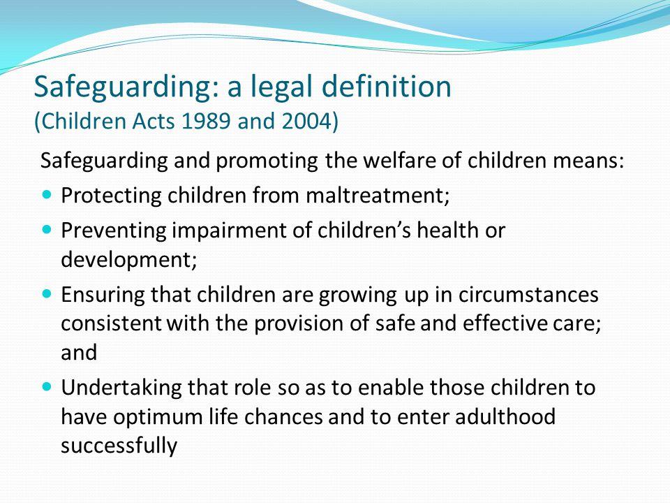 Safeguarding - a continuum........................