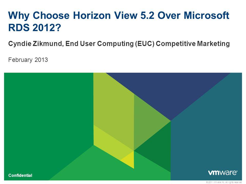 2 Confidential Agenda  Why Choose VMware End User Computing.