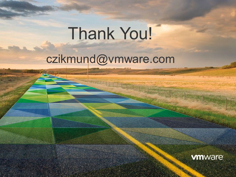 23 Confidential Thank You! czikmund@vmware.com