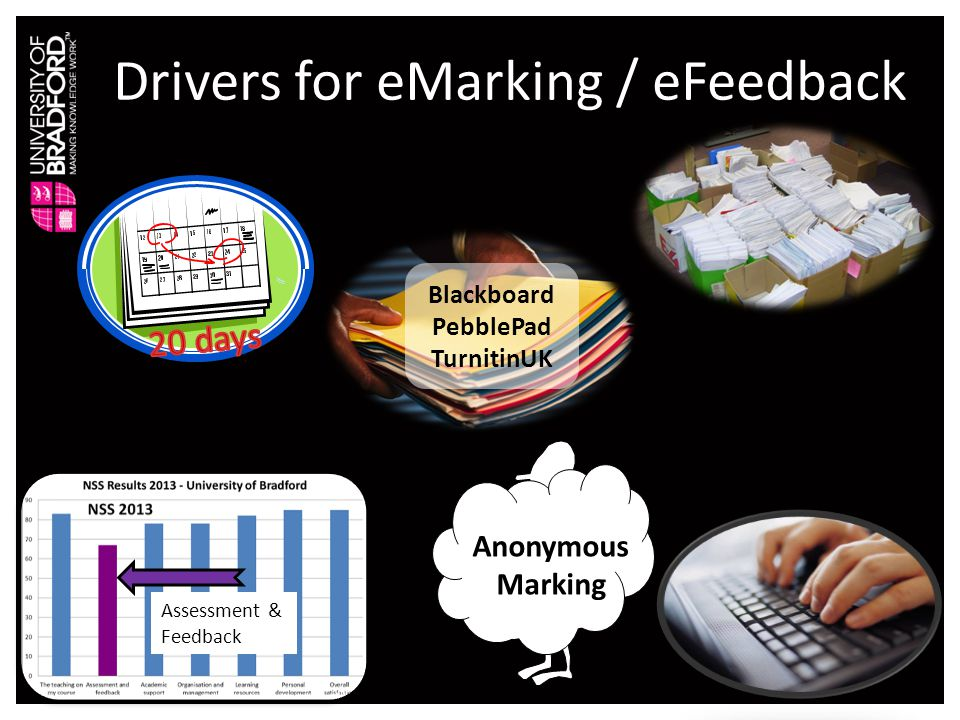 Personalised feedback vs consistency : the role of electronic marking and feedback.
