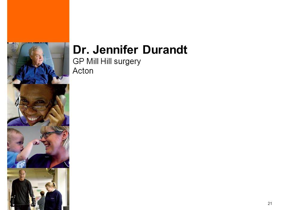 21 Dr. Jennifer Durandt GP Mill Hill surgery Acton