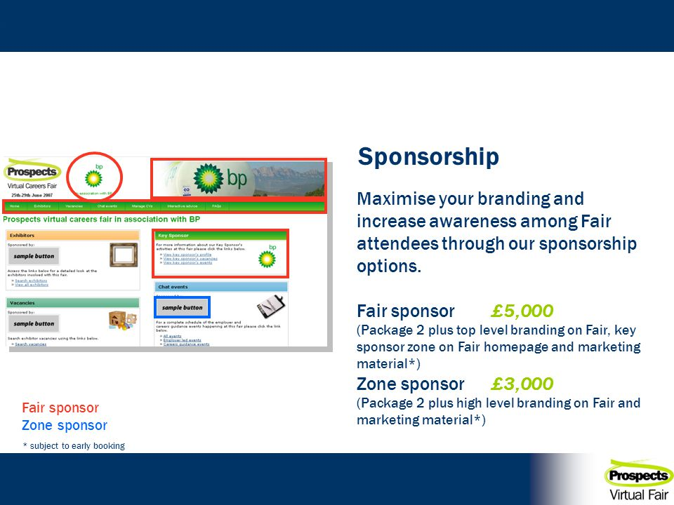 Maximise your branding and increase awareness among Fair attendees through our sponsorship options.