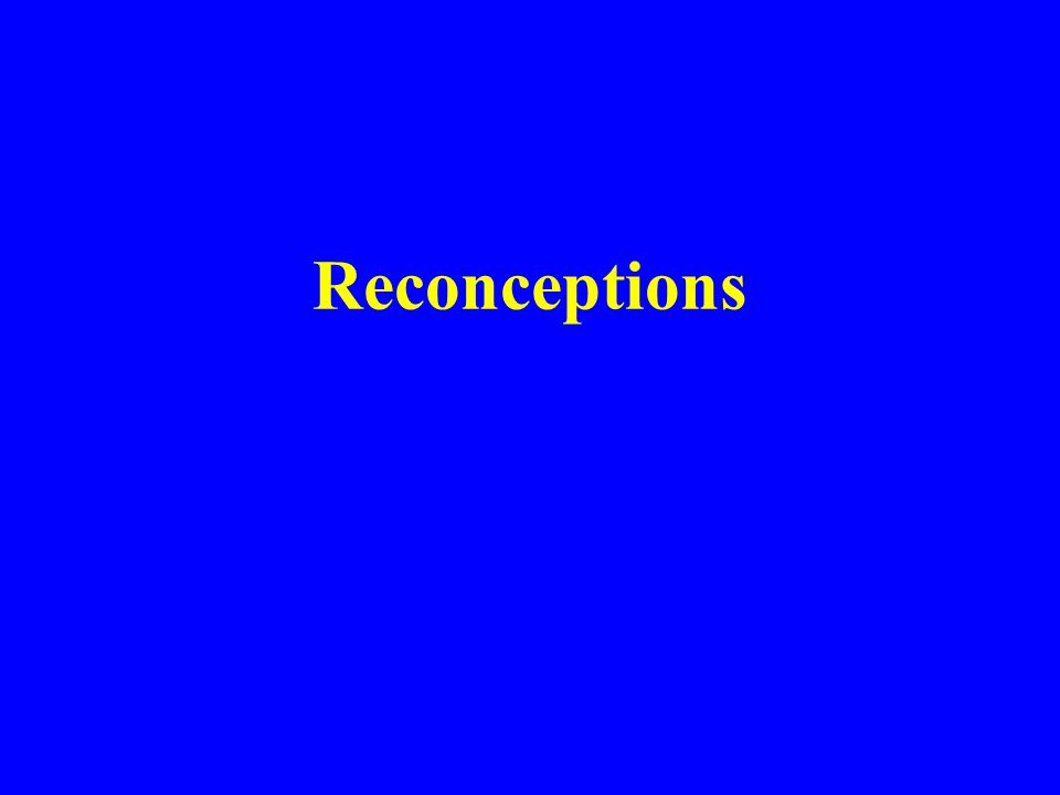 Reconceptions