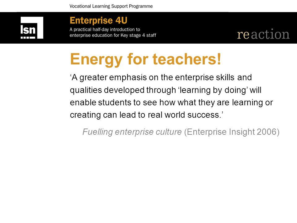 Energy for teachers.