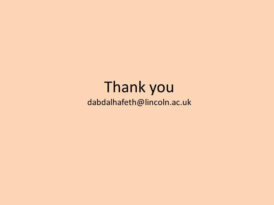 Thank you dabdalhafeth@lincoln.ac.uk
