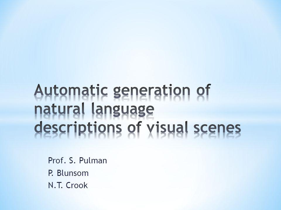 Prof. S. Pulman P. Blunsom N.T. Crook