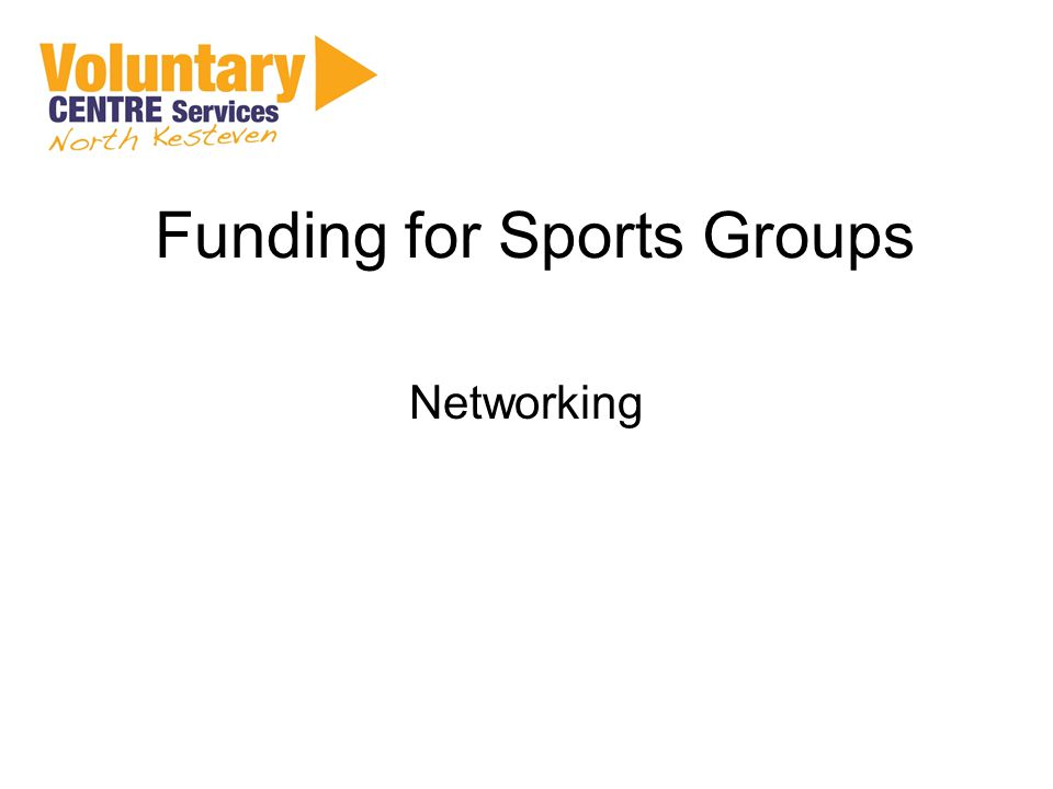 Funding for Sports Groups Networking