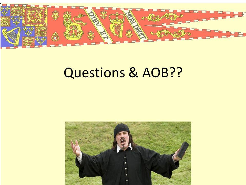 Questions & AOB??
