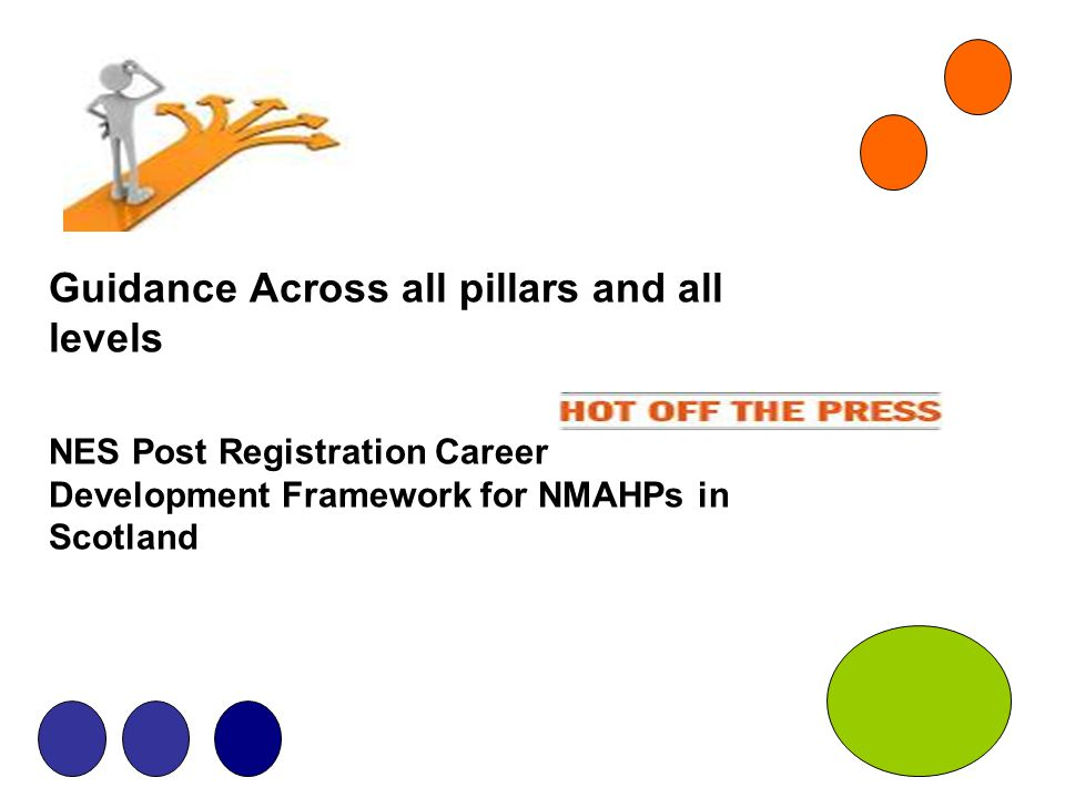Guidance Across all pillars and all levels NES Post Registration Career Development Framework for NMAHPs in Scotland