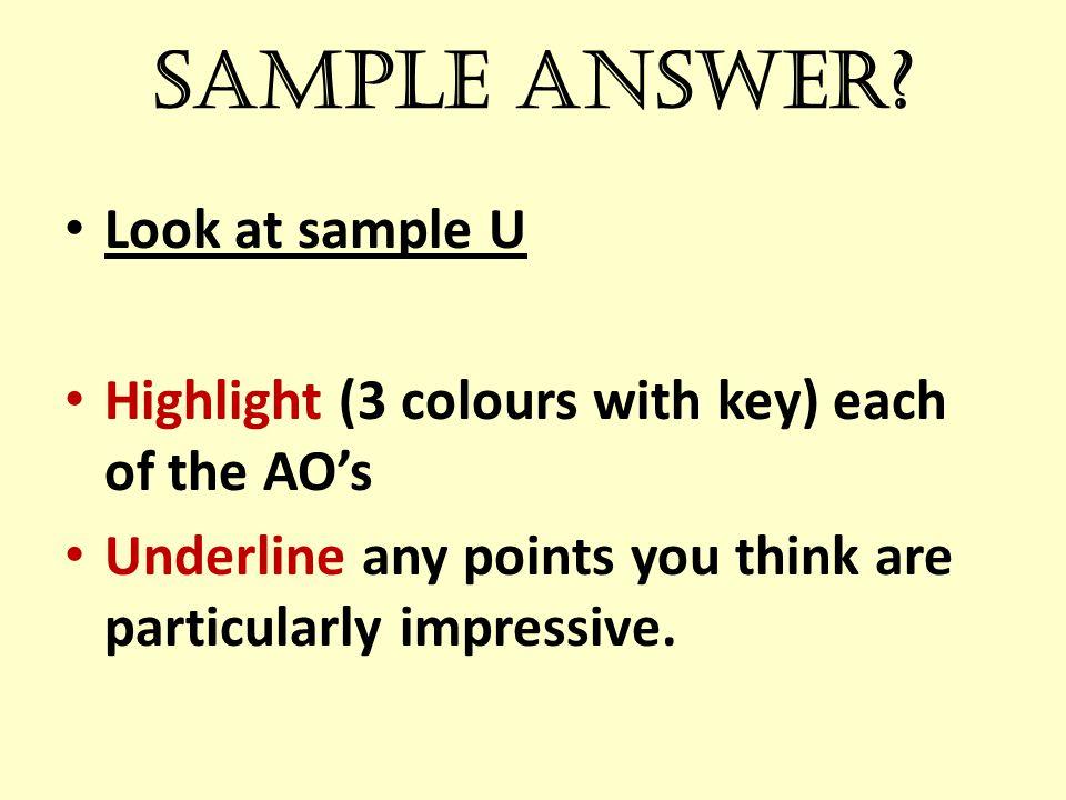Sample answer.