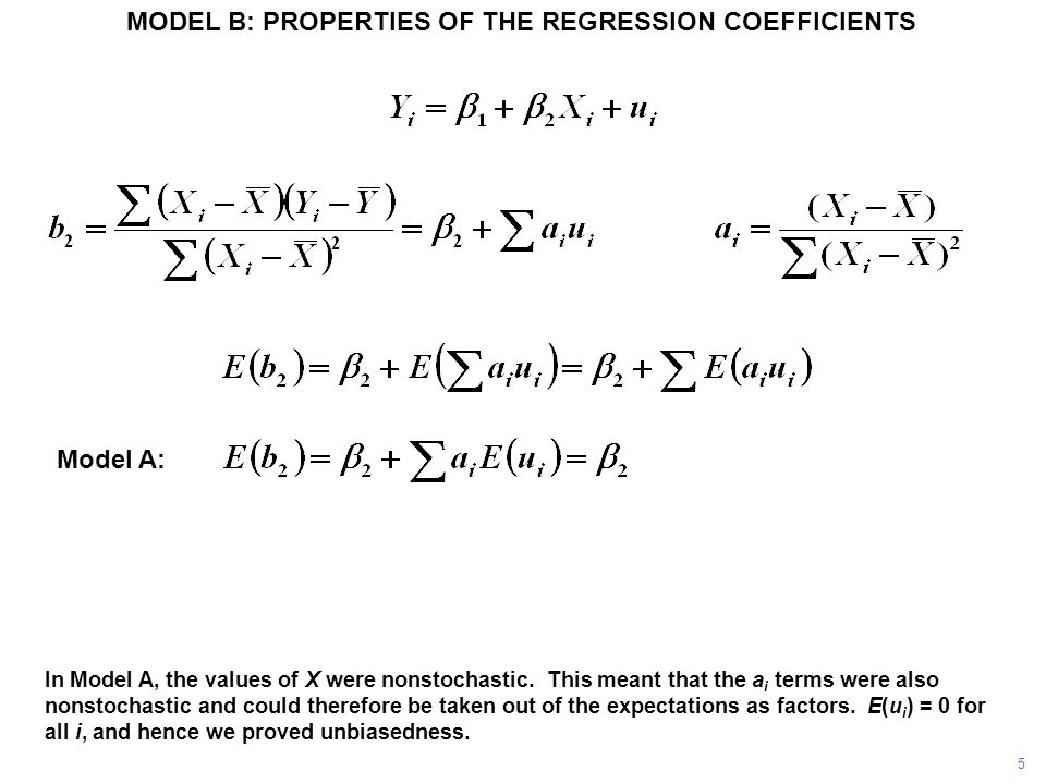 In Model A, the values of X were nonstochastic.