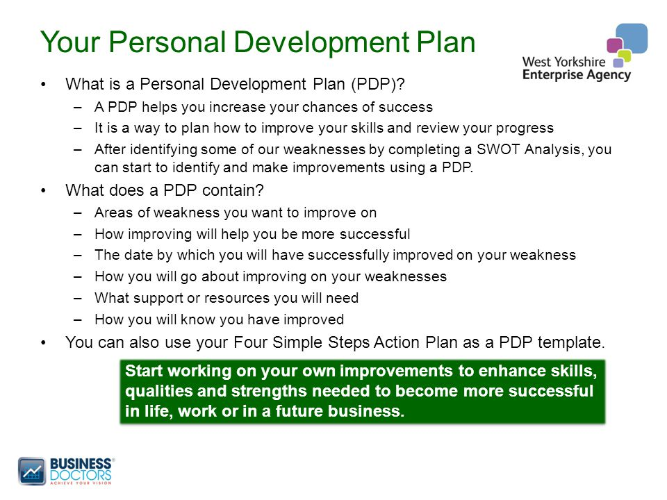 Your Personal Development Plan What is a Personal Development Plan (PDP).
