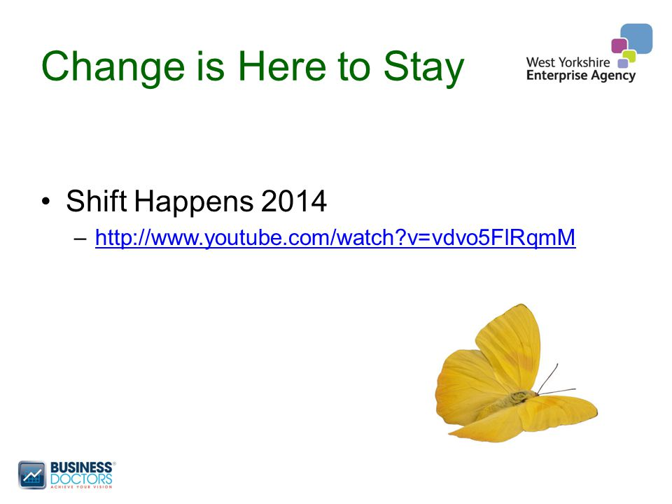Change is Here to Stay Shift Happens 2014 –http://www.youtube.com/watch?v=vdvo5FlRqmMhttp://www.youtube.com/watch?v=vdvo5FlRqmM