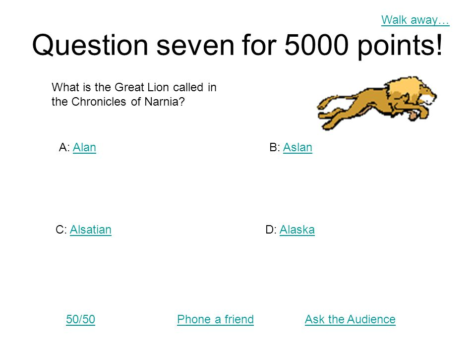 Ask the Audience Answer 50/50