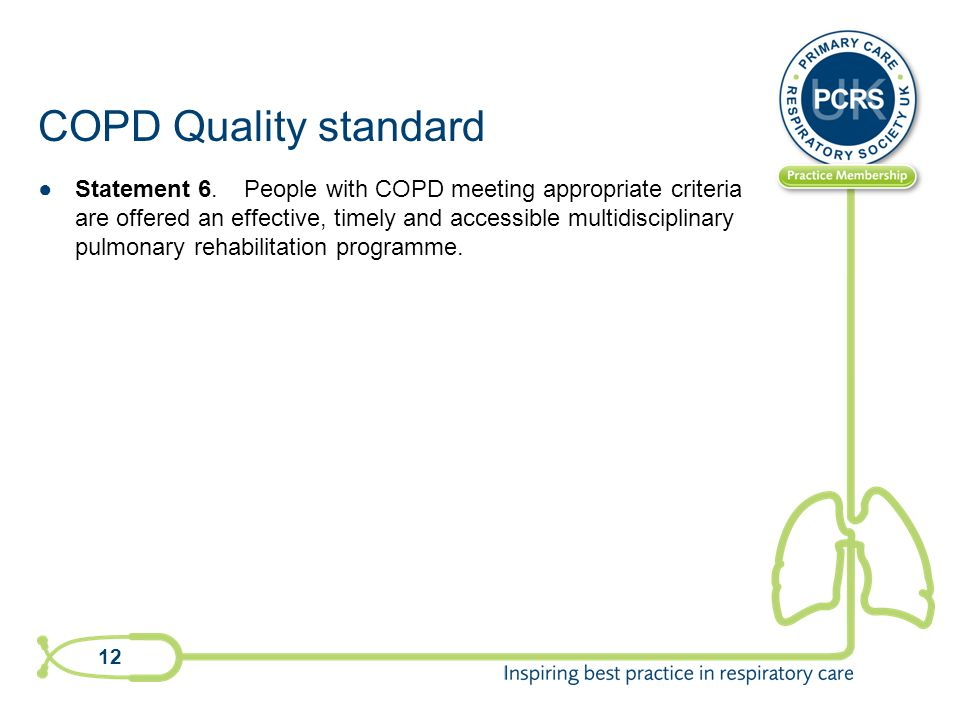 COPD Quality standard ●Statement 6.