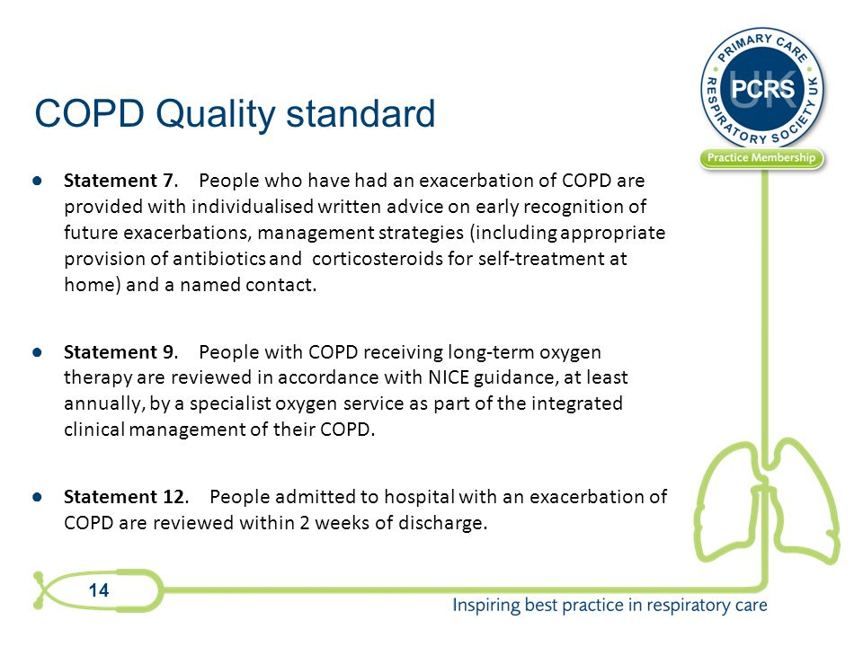 COPD Quality standard ● Statement 7.