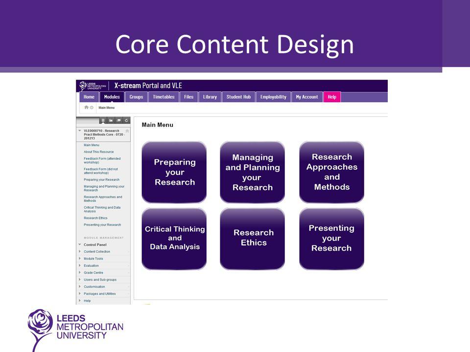 Core Content Design